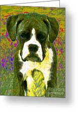 Boxer 20130126v2 Greeting Card by Wingsdomain Art and Photography