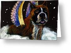 Boxer Angel Greeting Card