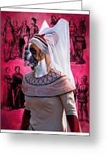 Boxer Art Canvas Print Greeting Card