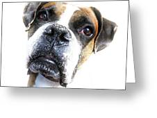 Boxer Expression Greeting Card