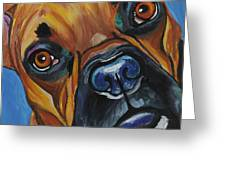 Boxer Greeting Card by Melissa Smith