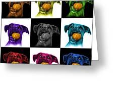 Boxer Mix Dog Art - 8173 - V1 - M Greeting Card