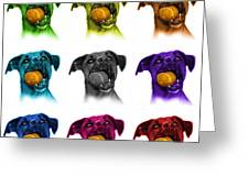 Boxer Mix Dog Art - 8173 - Wb - M Greeting Card