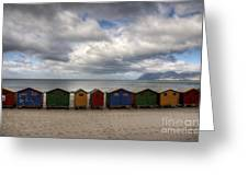 Boxes On The Beach Greeting Card