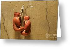 Boxing Gloves Greeting Card by Bernard Jaubert
