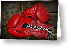 Boxing Gloves Greeting Card by Paul Ward