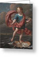 Boy Blowing Soap Bubbles Greeting Card