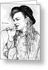 Boy George Art Drawing Sketch Portrait Greeting Card