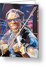 Boyd Tinsley And 2007 Lights Greeting Card by Joshua Morton