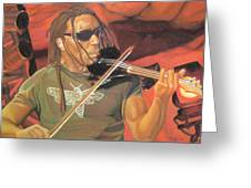 Boyd Tinsley At Red Rocks Greeting Card