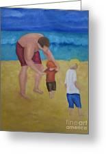 Paul, Brady Gavin At The Beach Greeting Card
