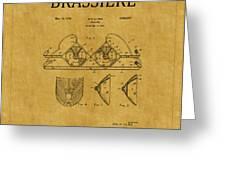 Bra Patent 19 Greeting Card