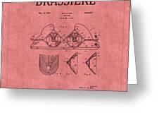 Bra Patent 21 Greeting Card