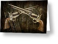 Brace Of Colt Navy Revolvers Greeting Card