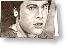 Brad Pitt Vampire Greeting Card