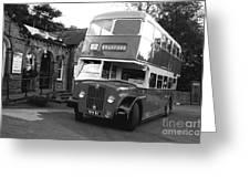 Bradford Bus In Mono  Greeting Card