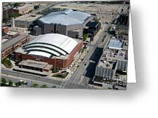 Bradley Center And Us Cellular Arena Greeting Card
