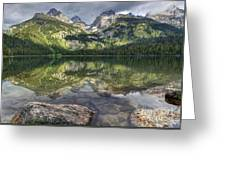 Bradley Lake Reflection - Grand Teton National Park Greeting Card
