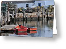 Bradley Wharf Dinghies Greeting Card