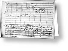 Brahms Manuscript, 1880 Greeting Card