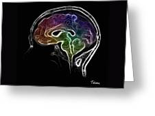 Brain And Mind Greeting Card