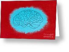 Brain Blue Greeting Card