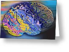 Brain Colours Greeting Card by Soumya Bouchachi