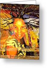 Brain Of Baobab Greeting Card by Fania Simon