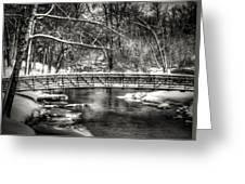 Brainards Bridge After A Snow Storm 3 Greeting Card