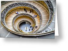 Bramante Spiral Staircase In Vatican City Greeting Card