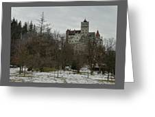 Bran Castle In December Greeting Card
