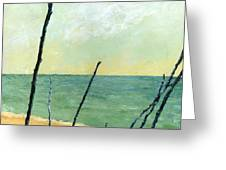 Branches On The Beach - Oil Greeting Card by Michelle Calkins
