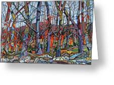 Branching Out Greeting Card by Deborah Glasgow