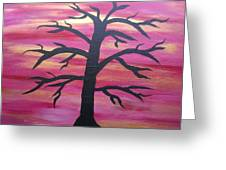 Branching Out Silhouette  Greeting Card