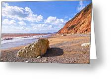 Branscombe Beach - Impressions Greeting Card