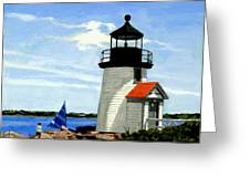 Brant Point Lighthouse Nantucket Massachusetts Greeting Card