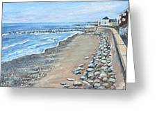 Brant Rock At High Tide Greeting Card