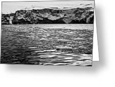 brash sea ice forming in front of glacier wall face port lockroy Antarctica Greeting Card