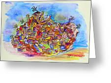 Brasilian Favela Greeting Card
