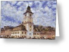 Brasov City Hall Greeting Card