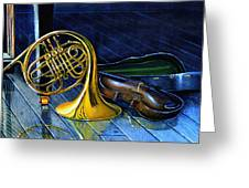 Brass And Strings Greeting Card