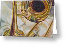 Brass At Rest Greeting Card
