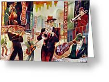 Brass On Broadway Greeting Card