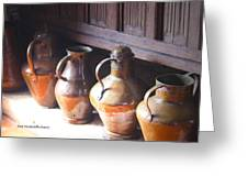 Brass Pots From 16th Century Columbus Home Greeting Card