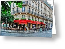 Brasserie De L'isle St. Louis Paris Greeting Card
