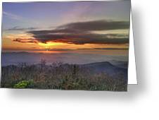 Brasstown Bald At Sunset Greeting Card