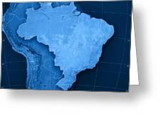 Brazil Topographic Map Digital Art By Frank Ramspott