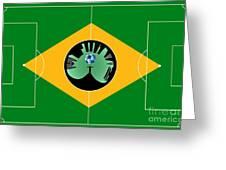 Brazilian Football Field Greeting Card