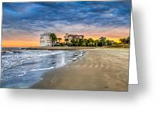 Breach Inlet Sunset Greeting Card