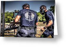 Breaching With Baton Rouge Swat Greeting Card